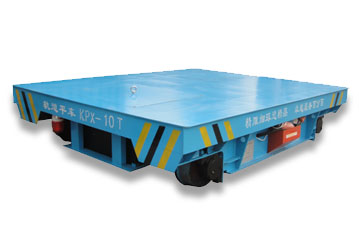 Factory cargo transport rail flat car/industrial transfer car