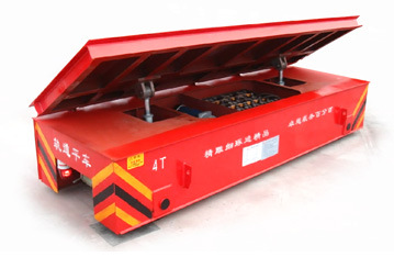 Hydraulic dumping function steel pipe transfer rail trailer