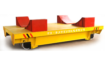 Paper industry assembly line apply rail flat trolley