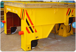 cable power rail transfer trolley