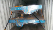 Busbar power transfer car in container