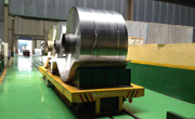 Steel coil transport in steel mill