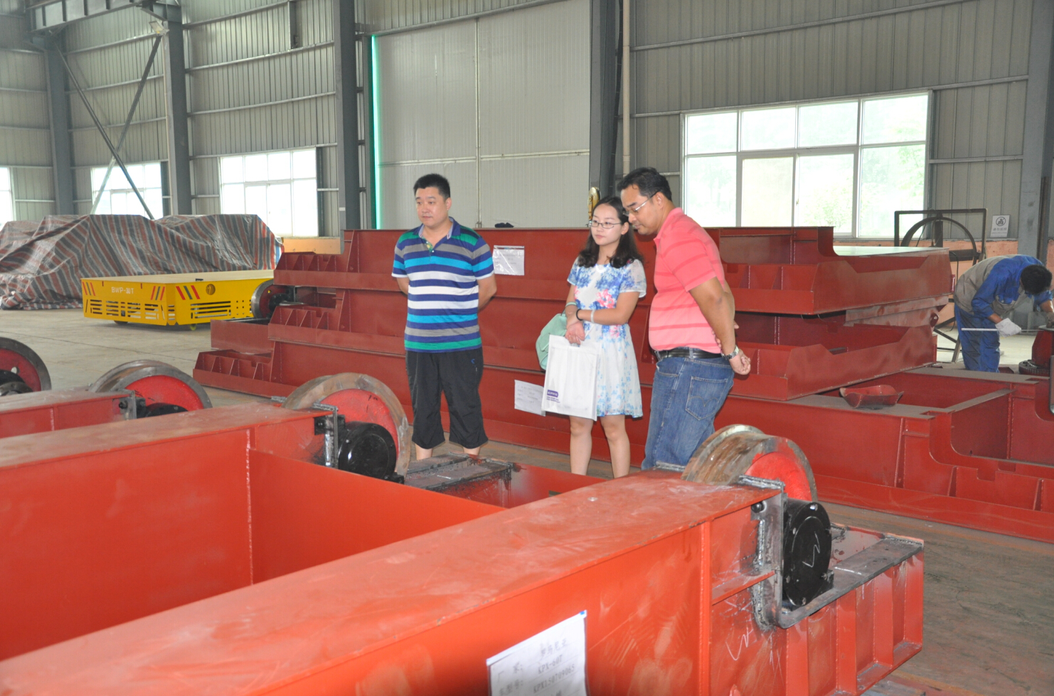 Thai Customers visited our company for material handling cars to transfer concrete buckets