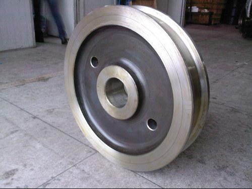 Mobile steel rail crane wheels