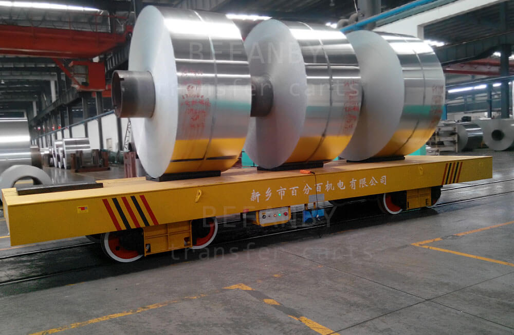 Electric Coil Rail Transfer Cart-50 ton Steel Coil Transfer Car