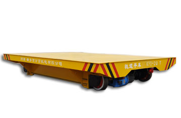Safe low voltage powered factory apply rail transport cart