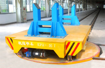 90 degree turn factory apply rail trailer with turntable