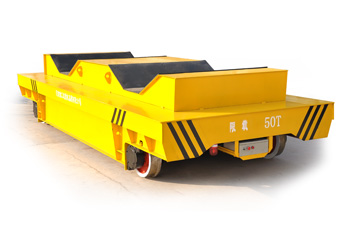 Aluminum production line cargo handling railway trolley
