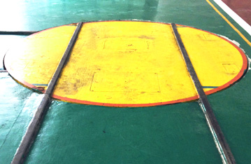 Large load 90 degree turning electric rail turnplate