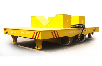 Heavy duty rail bogie for factory workshop handling