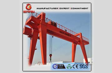 Outdoor double beam goliath gantry crane