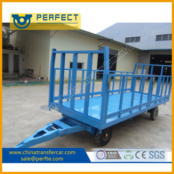 Industrial Trailer towed by forklift or tractor for material transportation