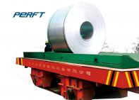 Production cycle of electric powered indoor steel coil transfer car Transport vehicle