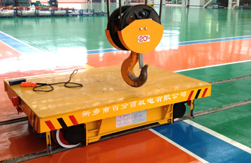 Steel coil production line apply transfer track cart