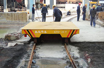s and arc-shaped rails heavy industry cargo transfer wagon