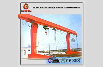 L model rail travelling hook gantry crane